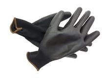 Gardening gloves on a white background Royalty Free Stock Photo