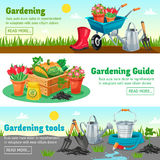 Gardening Horizontal Banners Stock Images