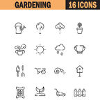 Gardening icon set. Gardening flat icon set. Collection of high quality outline symbols for web design, mobile app. Gardening vector thin line icons or logo stock illustration