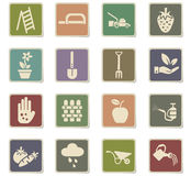 Gardening icon set Stock Image