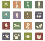 Gardening icon set Stock Photo