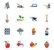 Gardening icon set Royalty Free Stock Photos