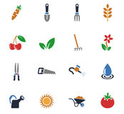 Gardening icon set Royalty Free Stock Images