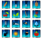 Gardening icon set Stock Photography