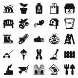 Gardening icon set  On White Background. Created For Mobile, Web, Decor, Print Products, Applications. Vector illustration Royalty Free Stock Photography