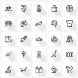 Gardening icon set  On White Background Stock Images