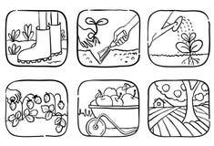 Gardening icons Stock Image