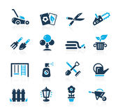 Gardening Icons -- Azure Serie Royalty Free Stock Photography