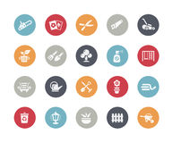Gardening Icons Classics Series. Vector icons for your web or printing projects Stock Photo