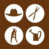 Gardening icons design Stock Photography