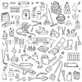 Gardening icons Royalty Free Stock Images