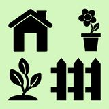 Gardening. Icons for home and garden. Vector illustration royalty free illustration