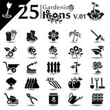 Gardening Icons Royalty Free Stock Photography