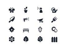 Gardening icons. Lyra series Stock Photos