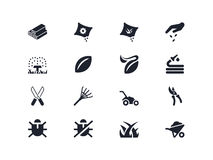 Gardening icons 2. Lyra series Stock Images