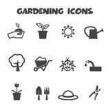 Gardening icons Stock Photos