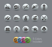 Gardening Icons Pearly Series Royalty Free Stock Images