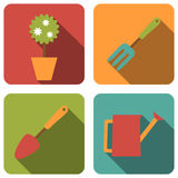 Gardening icons Royalty Free Stock Image