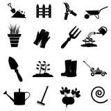 Gardening icons set Royalty Free Stock Photo
