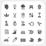 Gardening icons set Royalty Free Stock Photos