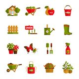 Gardening Icons Set Royalty Free Stock Image