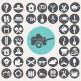 Gardening icons set. Stock Image