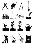 Gardening Icons Stock Photos