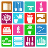 Gardening icons set Royalty Free Stock Images