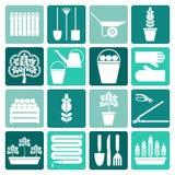 Gardening icons set Stock Image