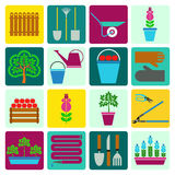 Gardening. Icons set Royalty Free Stock Images
