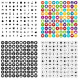 100 gardening icons set vector variant. 100 gardening icons set vector in 4 variant for any web design isolated on white Royalty Free Stock Images