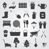 Gardening Icons Vector Set Stock Photography