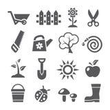 Gardening icons Stock Photo