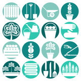 Gardening. Iicons set Royalty Free Stock Images