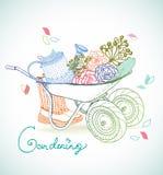 Gardening illustration Stock Image