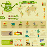 Gardening Infographic Layout Royalty Free Stock Photos