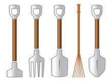 Gardening isolated tools set Stock Photo