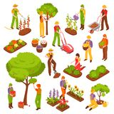 Gardening Isometric Set Stock Image