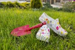 Gardening. Kit on grass background Stock Photo