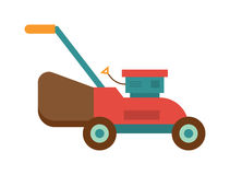 Gardening lawn mower groundworks tool machine technology vector. Royalty Free Stock Photography