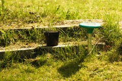 Gardening. Lawn sprinkler. Irrigation system. Royalty Free Stock Photos