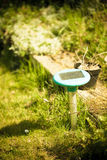 Gardening. Lawn sprinkler. Irrigation system. Stock Photos