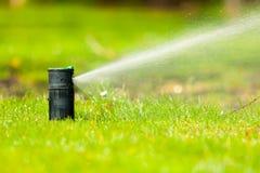 Free Gardening. Lawn Sprinkler Spraying Water Over Grass. Stock Photography - 52528032