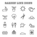 Gardening line icons Royalty Free Stock Photography