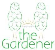 Gardening logo Royalty Free Stock Photo