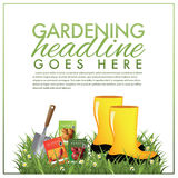 Gardening marketing template Royalty Free Stock Photography