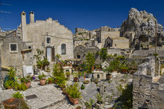 Gardening in matera Stock Images