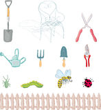 Gardening objects Stock Image