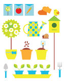 Gardening objects set  Stock Photography