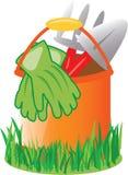 Gardening Pail Royalty Free Stock Photography